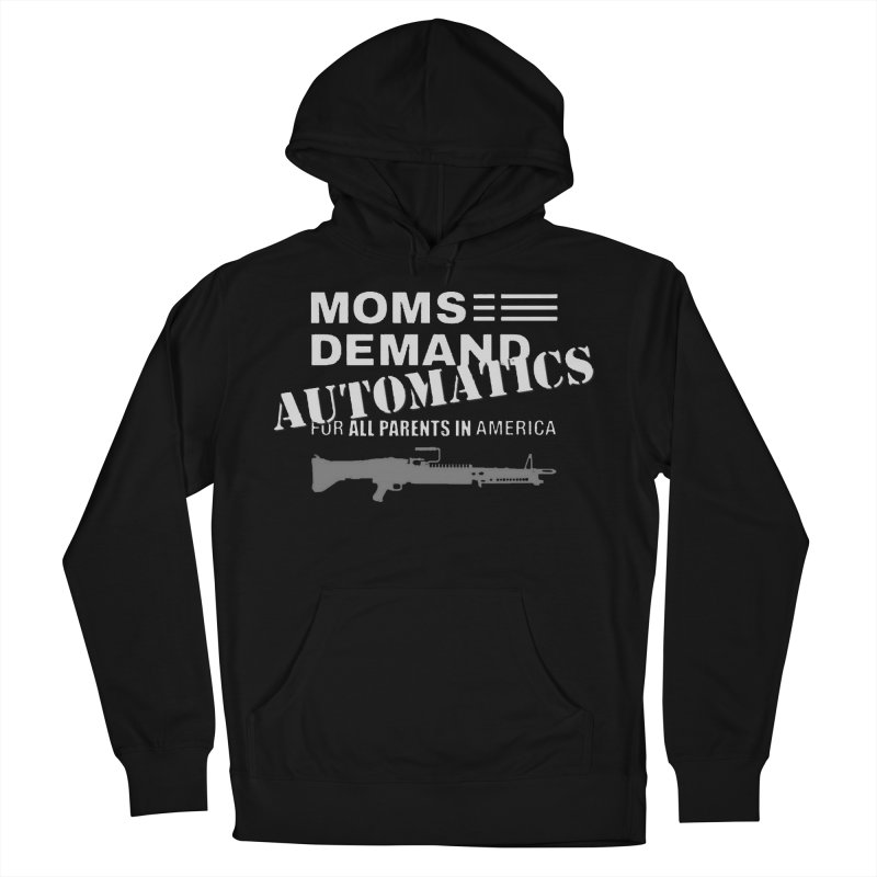 Moms Demand Automatics - White Logo, Gray LMG Men's French Terry Pullover Hoody by Rally For Our Rights Shop