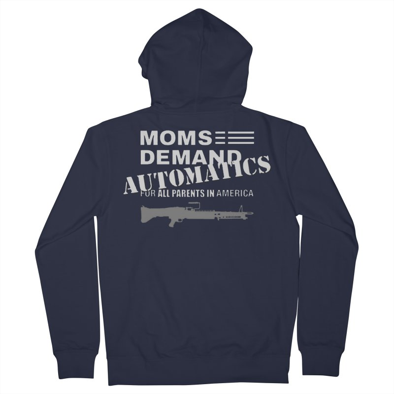 Moms Demand Automatics - White Logo, Gray LMG Women's French Terry Zip-Up Hoody by Rally For Our Rights Shop