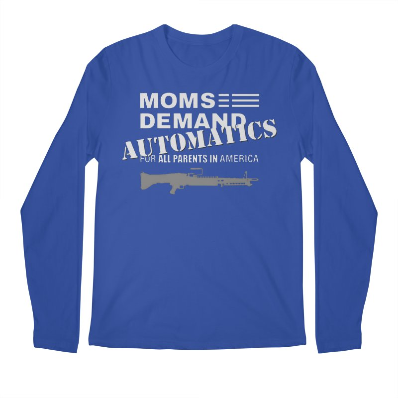 Moms Demand Automatics - White Logo, Gray LMG Men's Regular Longsleeve T-Shirt by Rally For Our Rights Shop