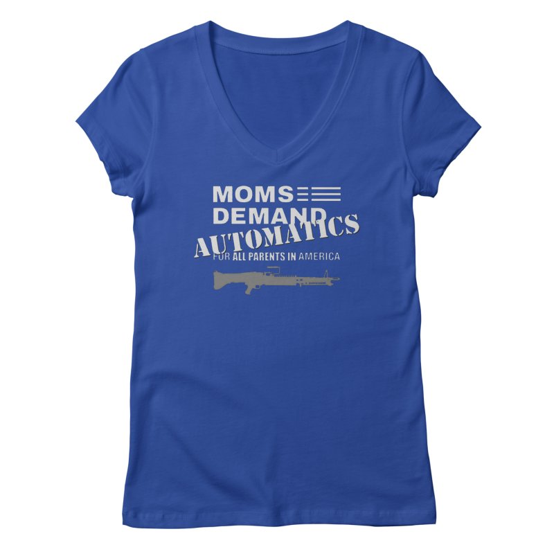 Moms Demand Automatics - White Logo, Gray LMG Women's Regular V-Neck by Rally For Our Rights Shop