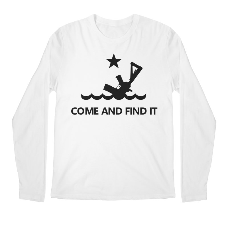 Come and Find It - Black Logo Men's Regular Longsleeve T-Shirt by Rally For Our Rights Shop
