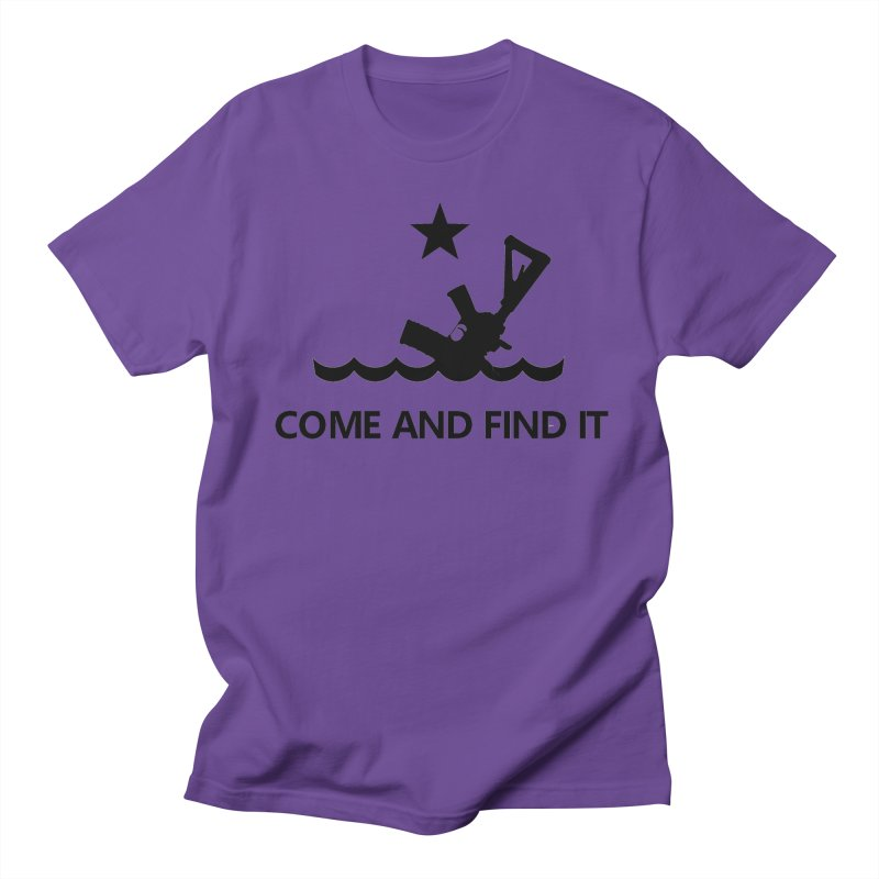 Come and Find It - Black Logo Men's Regular T-Shirt by Rally For Our Rights Shop