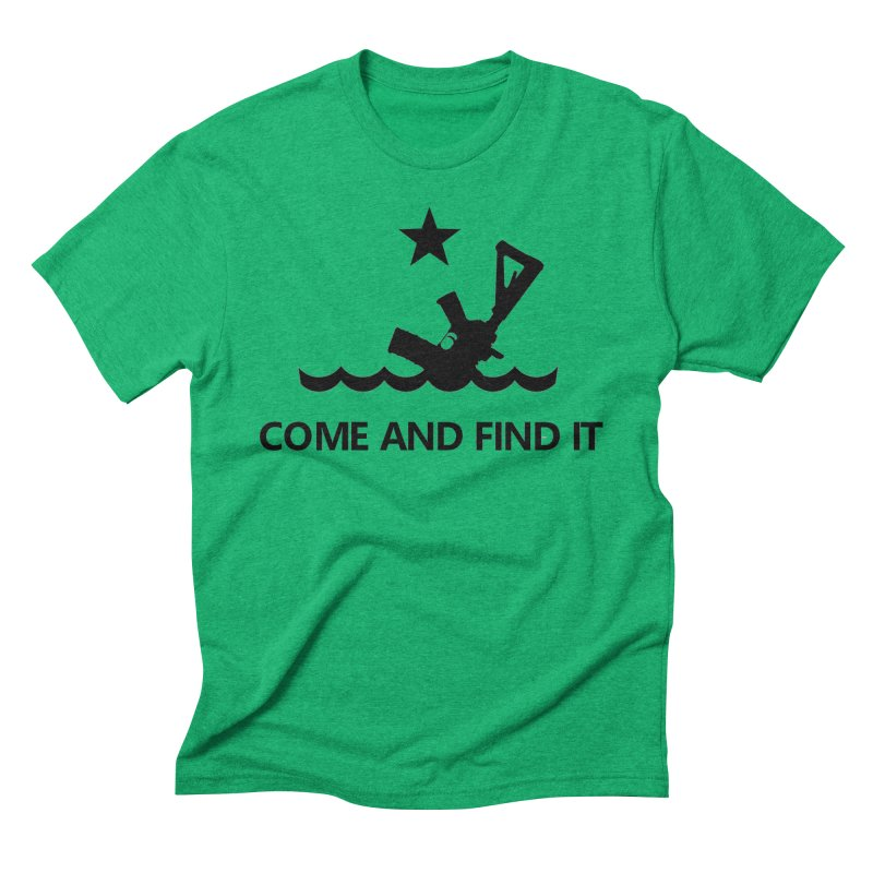 Come and Find It - Black Logo Men's Triblend T-Shirt by Rally For Our Rights Shop