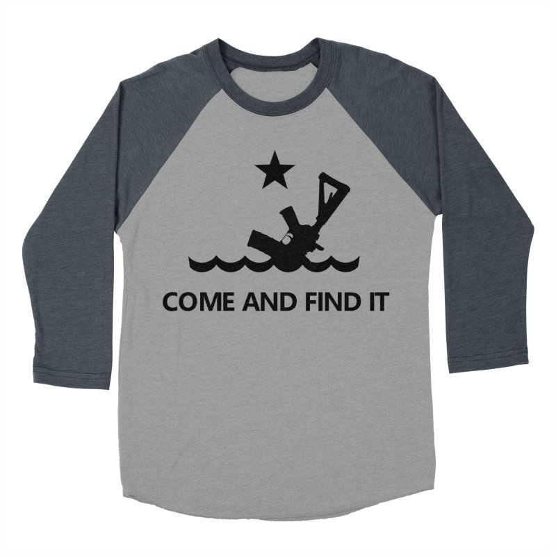 Come and Find It - Black Logo Women's Baseball Triblend Longsleeve T-Shirt by Rally For Our Rights Shop