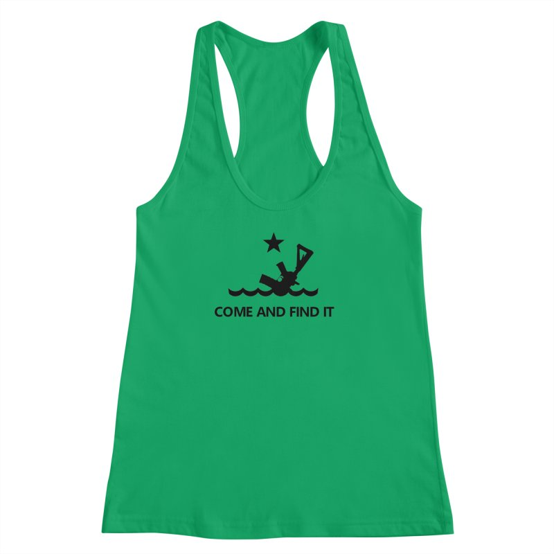 Come and Find It - Black Logo Women's Racerback Tank by Rally For Our Rights Shop