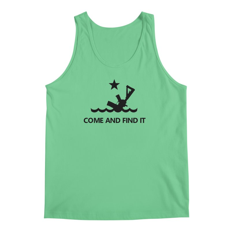 Come and Find It - Black Logo Men's Regular Tank by Rally For Our Rights Shop