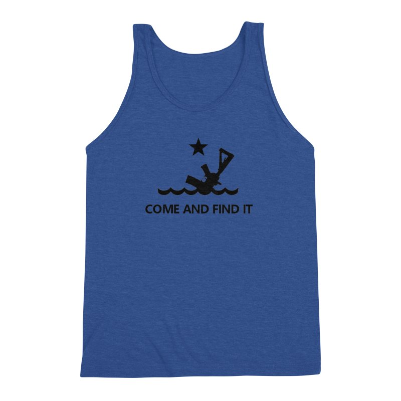 Come and Find It - Black Logo Men's Triblend Tank by Rally For Our Rights Shop