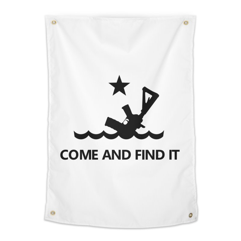 Come and Find It - Black Logo Home Tapestry by Rally For Our Rights Shop