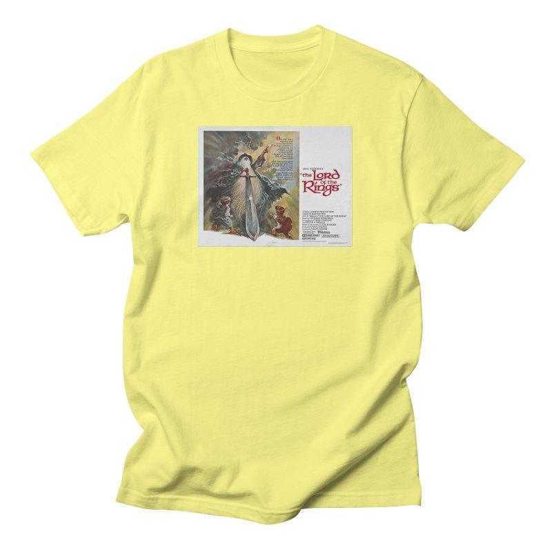 lotr poster 1 Men's T-Shirt by Ralph Bakshi Studios