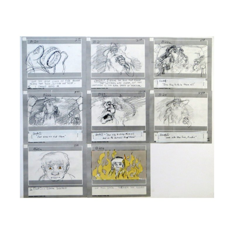 LOTR Storyboard -The ONE RING TO RULE THEM ALL by Ralph Bakshi Studios
