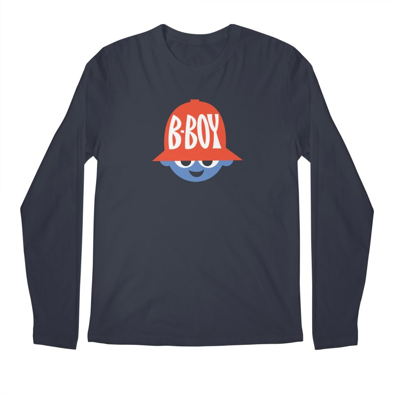 B-Boy Men's Regular Longsleeve T-Shirt by Ramon Olivera Illustration Shop