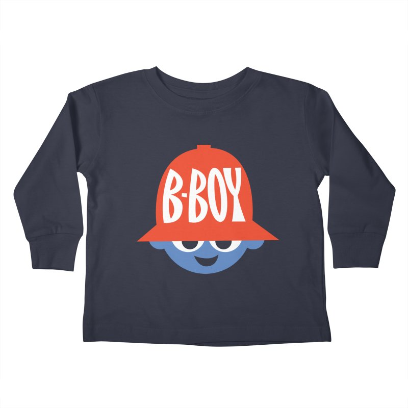 B-Boy Kids Toddler Longsleeve T-Shirt by Ramon Olivera Illustration Shop