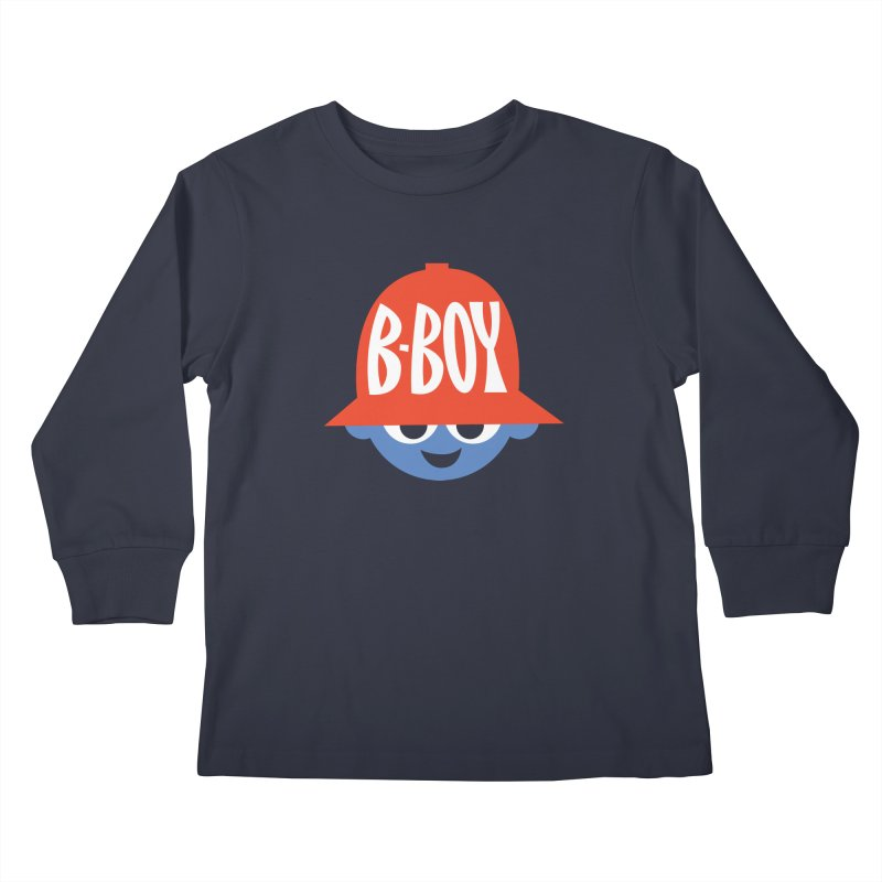 B-Boy Kids Longsleeve T-Shirt by Ramon Olivera Illustration Shop