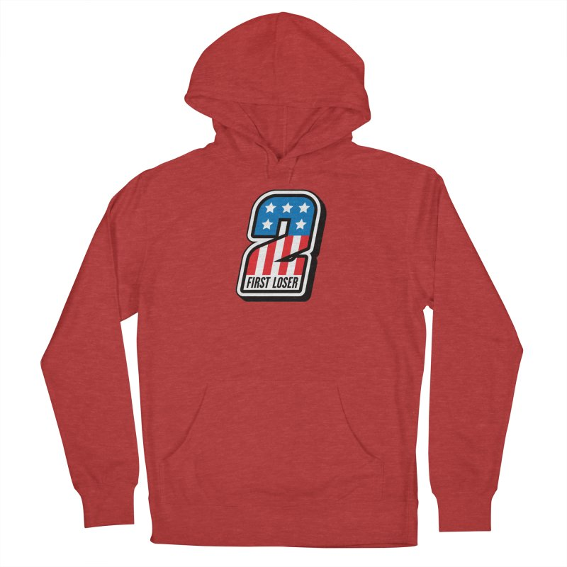 First Loser Men's French Terry Pullover Hoody by Ramon Olivera Illustration Shop