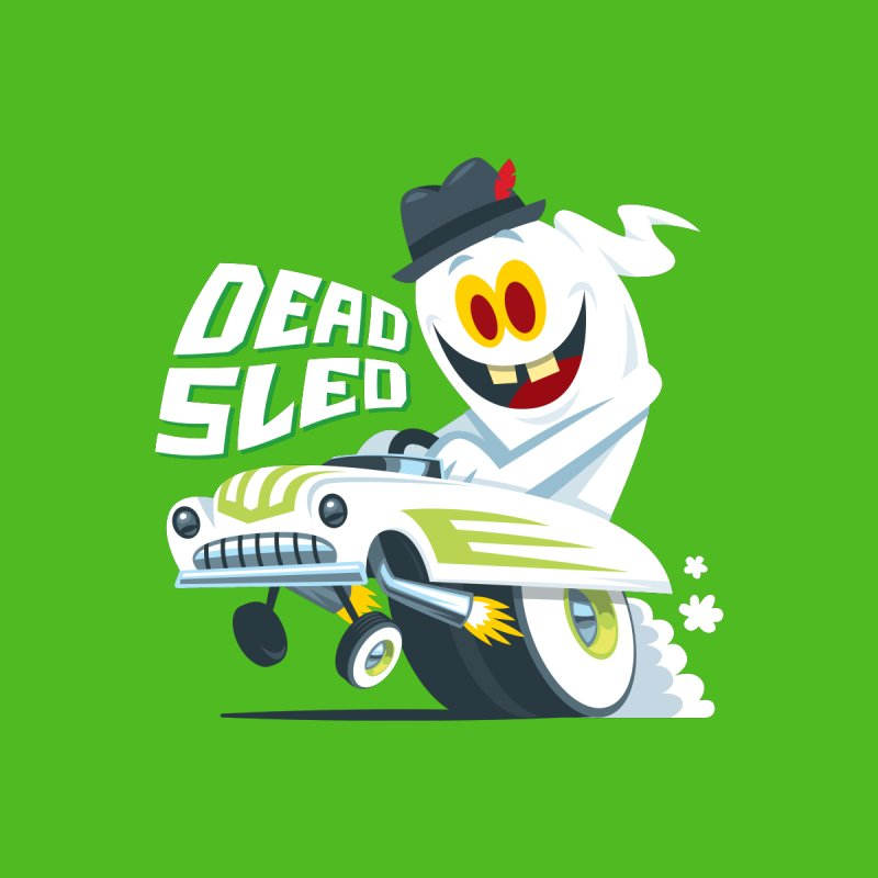 Dead Sled 2 Men's T-Shirt by Ramon Olivera Illustration Shop