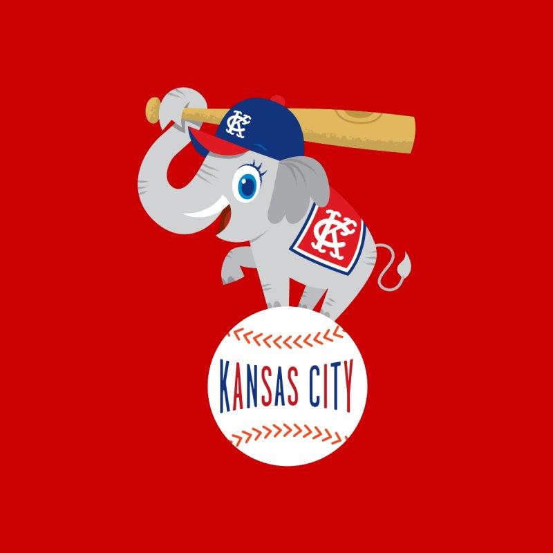 KC Baseball Men's T-Shirt by Ramon Olivera Illustration Shop