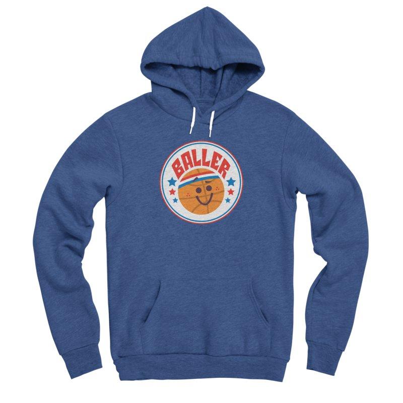 Baller Men's Sponge Fleece Pullover Hoody by Ramon Olivera Illustration Shop