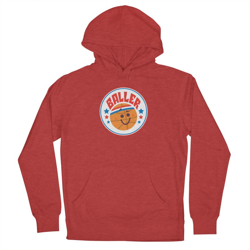 Baller Men's French Terry Pullover Hoody by Ramon Olivera Illustration Shop