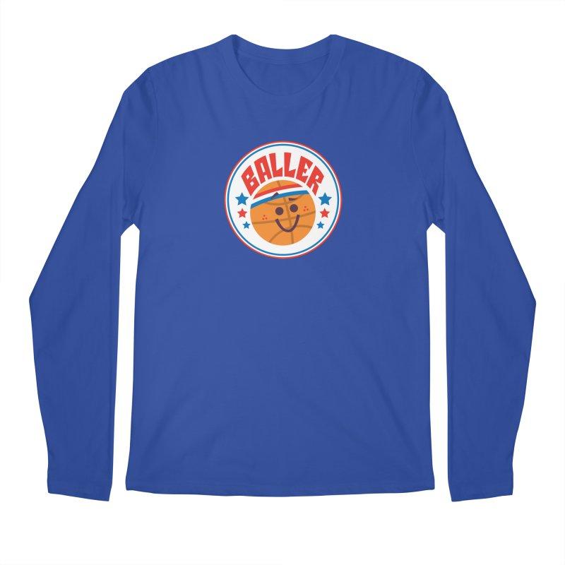Baller Men's Regular Longsleeve T-Shirt by Ramon Olivera Illustration Shop