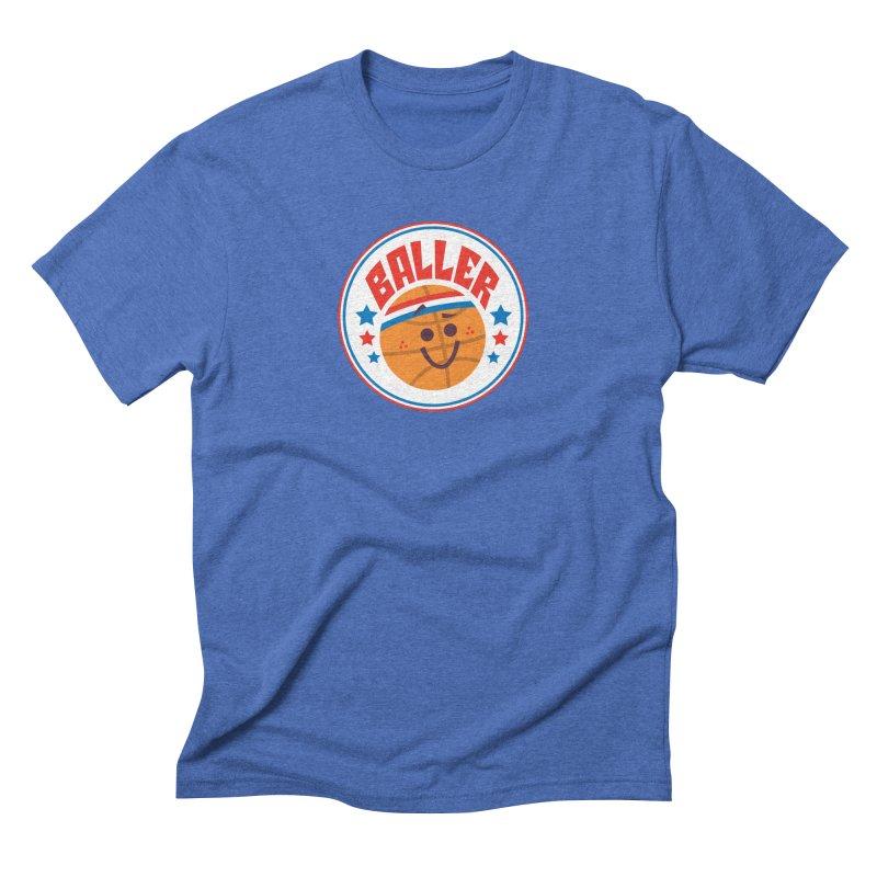 Baller Men's Triblend T-Shirt by Ramon Olivera Illustration Shop