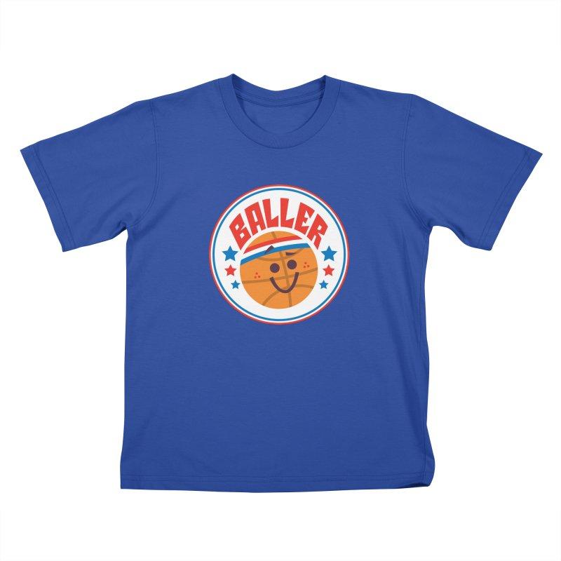 Baller Kids T-Shirt by Ramon Olivera Illustration Shop