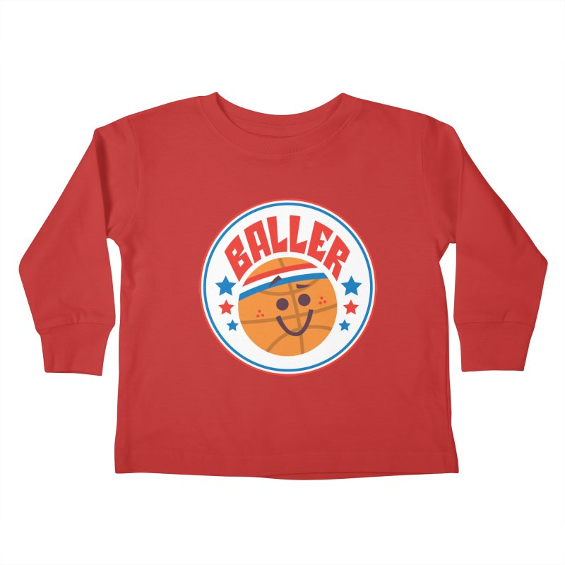 Baller Kids Toddler Longsleeve T-Shirt by Ramon Olivera Illustration Shop