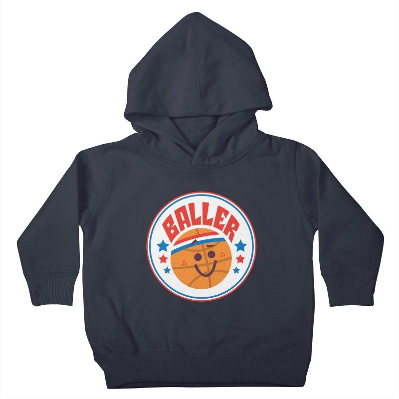 Baller Kids Toddler Pullover Hoody by Ramon Olivera Illustration Shop