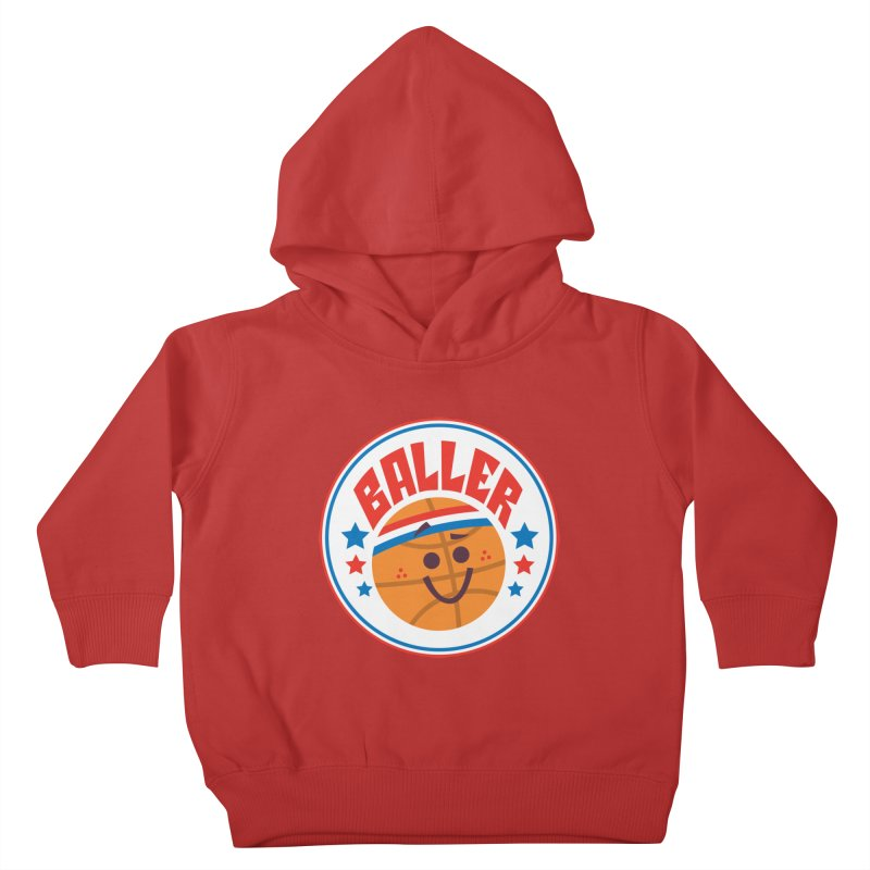 Baller Kids Toddler Pullover Hoody by Ramon Olivera Illustration Shop