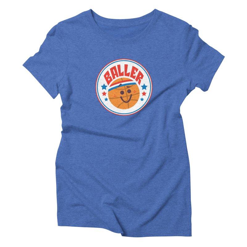 Baller Women's Triblend T-Shirt by Ramon Olivera Illustration Shop