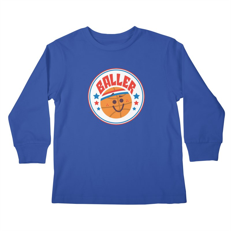 Baller Kids Longsleeve T-Shirt by Ramon Olivera Illustration Shop