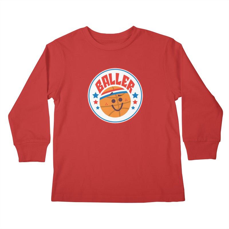 Baller Kids Longsleeve T-Shirt by Ramon Olivera Illustration Shop