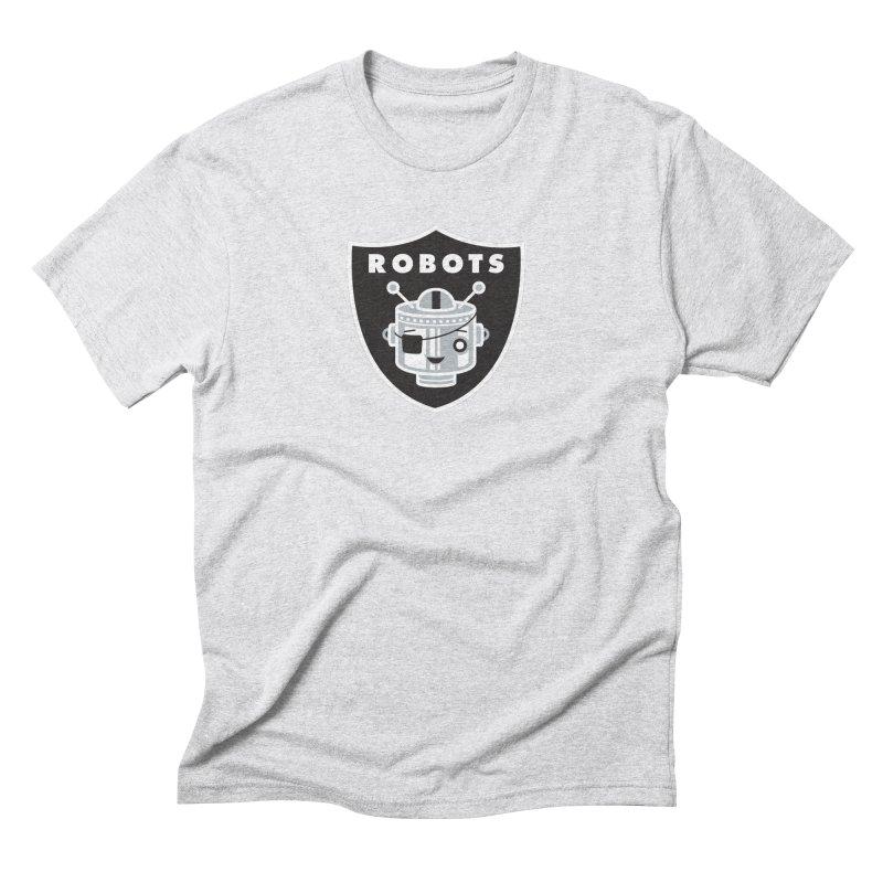 Robot Nation Men's Triblend T-Shirt by Ramon Olivera Illustration Shop