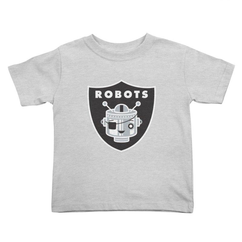 Robot Nation Kids Toddler T-Shirt by Ramon Olivera Illustration Shop