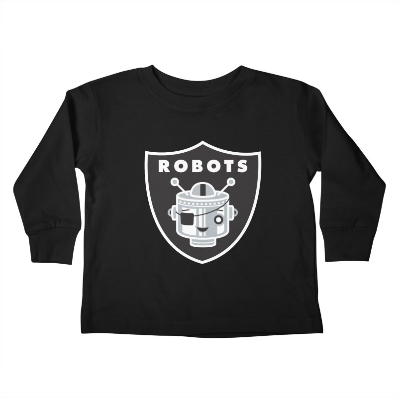 Robot Nation Kids Toddler Longsleeve T-Shirt by Ramon Olivera Illustration Shop