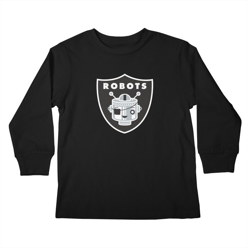 Robot Nation Kids Longsleeve T-Shirt by Ramon Olivera Illustration Shop