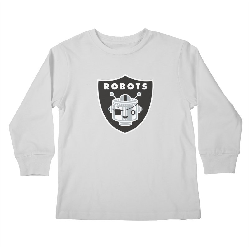 Robot Nation Kids Longsleeve T-Shirt by Ramon Olivera Illustration Shop