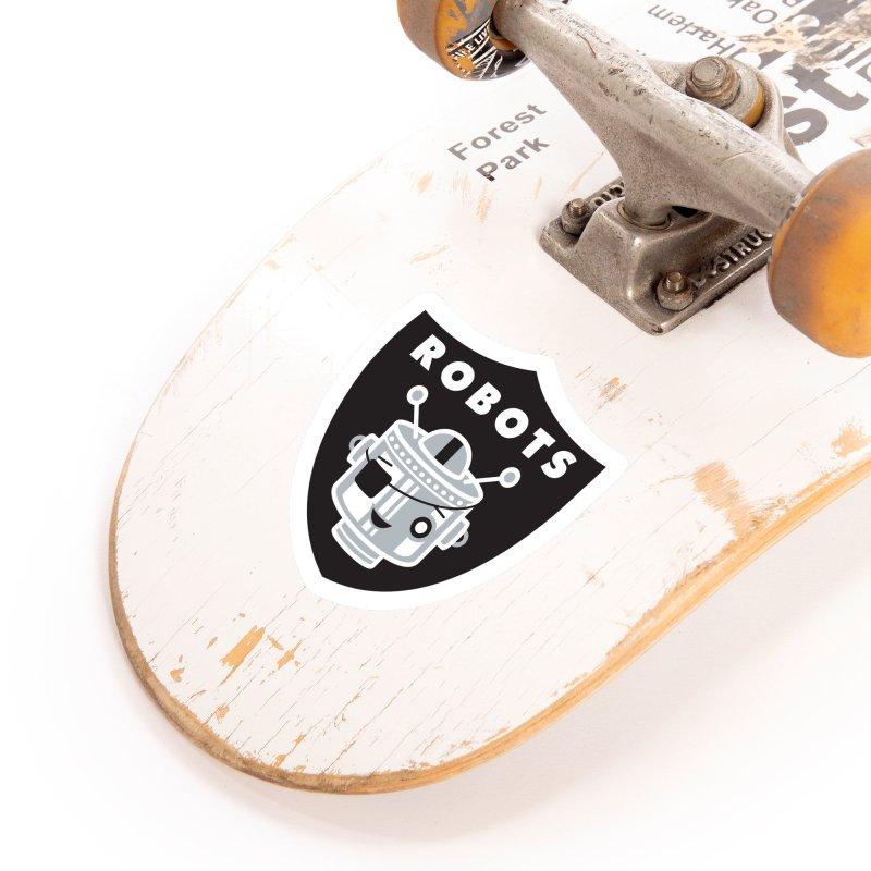 Robot Nation Accessories Sticker by Ramon Olivera Illustration Shop