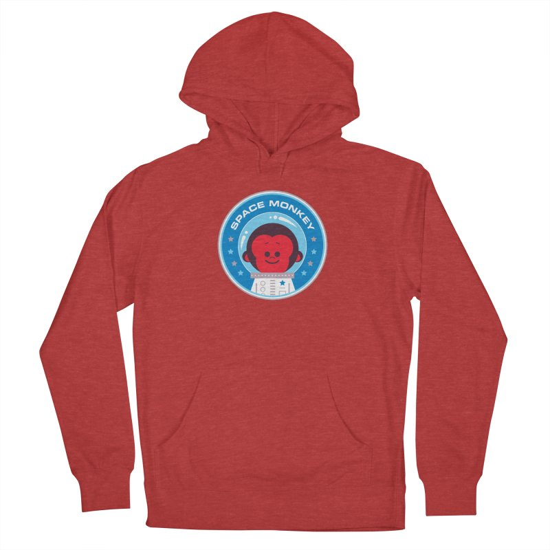 Space Monkey Women's French Terry Pullover Hoody by Ramon Olivera Illustration Shop