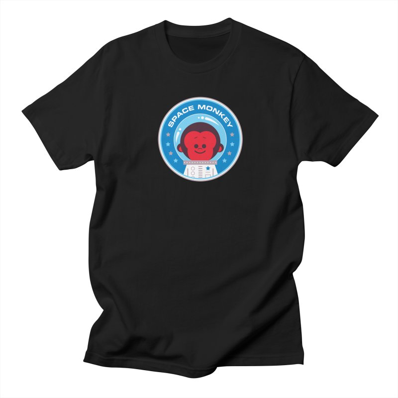 Space Monkey Women's Regular Unisex T-Shirt by Ramon Olivera Illustration Shop