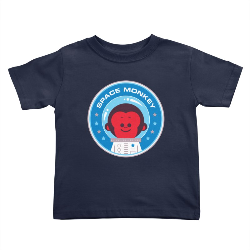 Space Monkey Kids Toddler T-Shirt by Ramon Olivera Illustration Shop