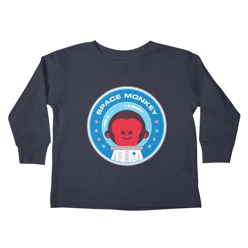 Space Monkey Kids Toddler Longsleeve T-Shirt by Ramon Olivera Illustration Shop