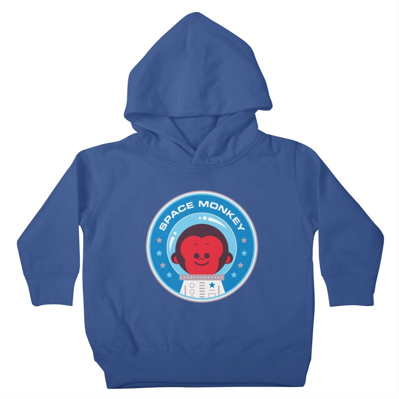 Space Monkey Kids Toddler Pullover Hoody by Ramon Olivera Illustration Shop