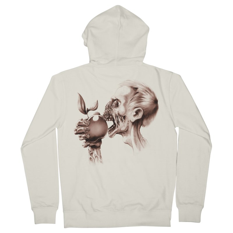 Vegetarian Zombie Men's French Terry Zip-Up Hoody by ramos's Artist Shop