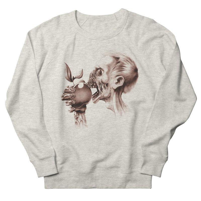 Vegetarian Zombie Women's French Terry Sweatshirt by ramos's Artist Shop