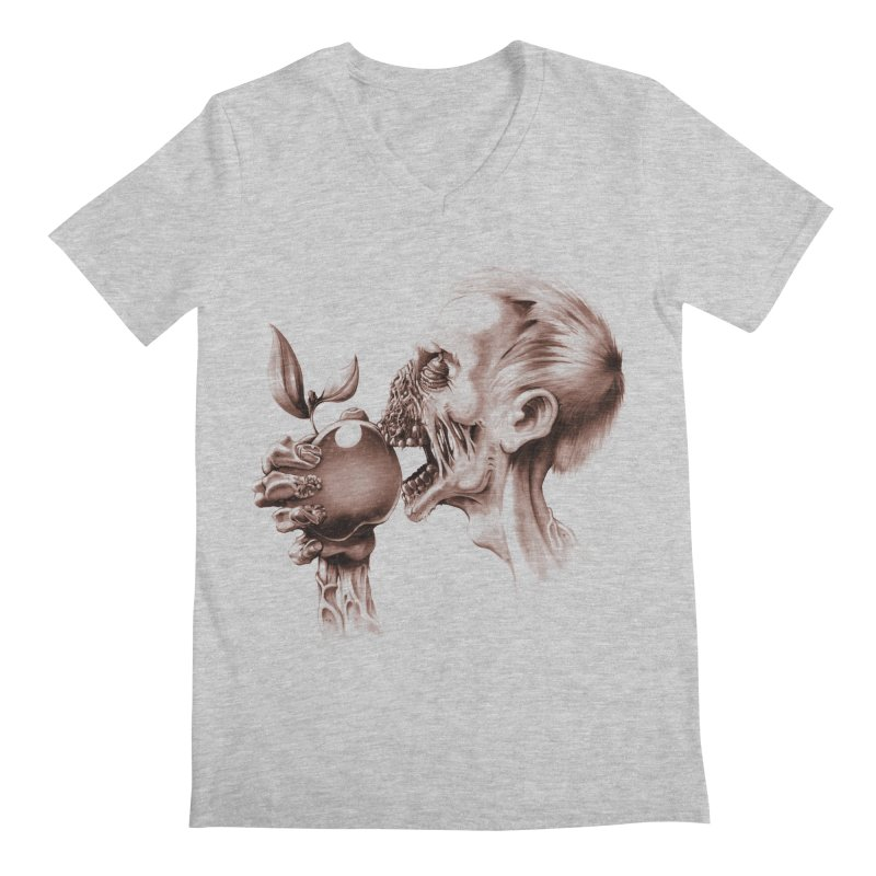 Vegetarian Zombie Men's V-Neck by ramos's Artist Shop