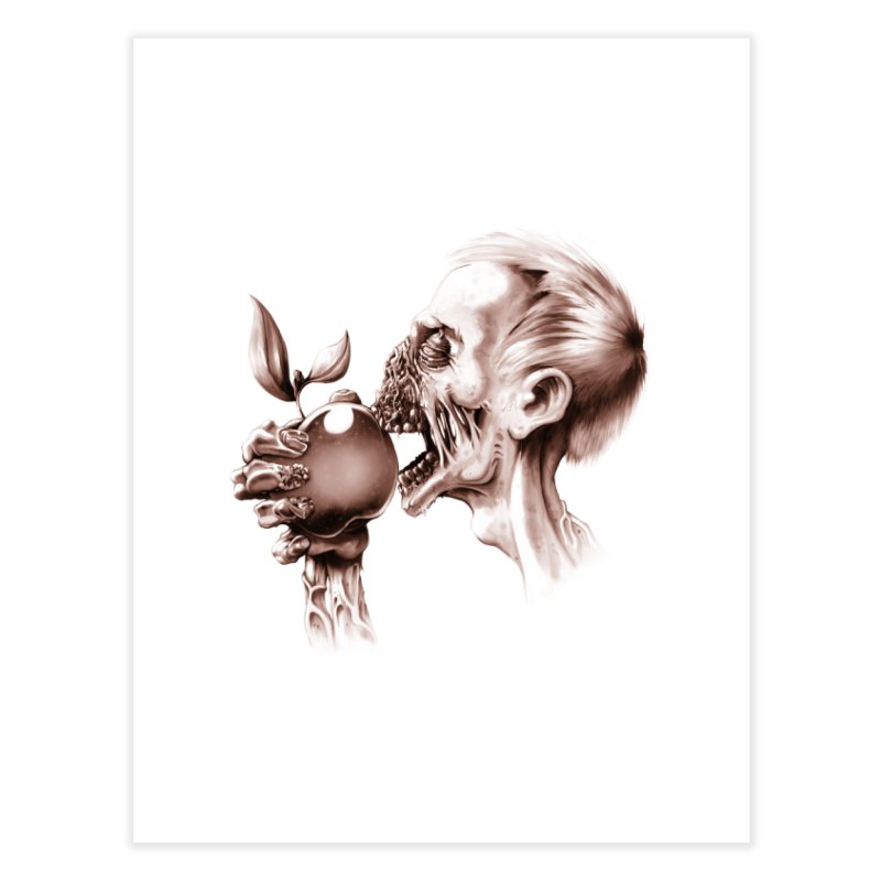 Vegetarian Zombie Home Fine Art Print by ramos's Artist Shop