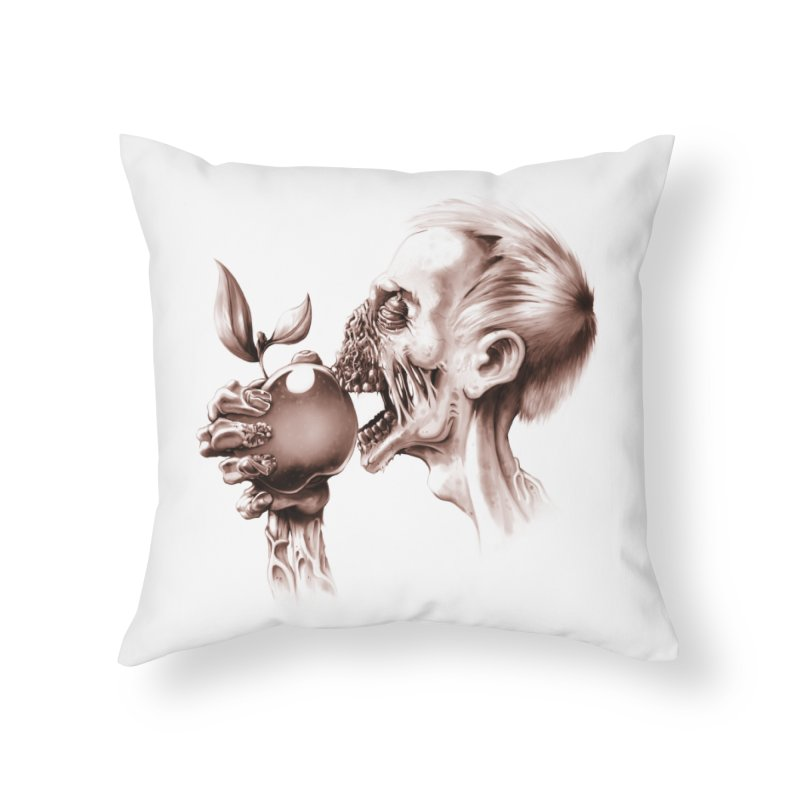 Vegetarian Zombie Home Throw Pillow by ramos's Artist Shop