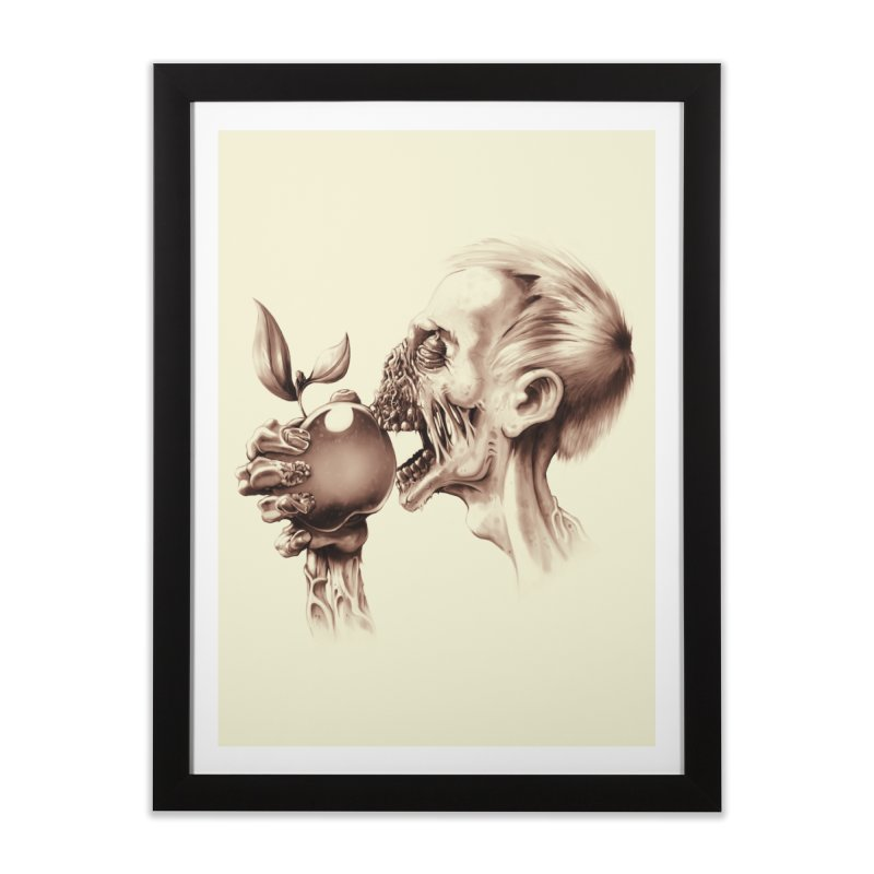 Vegetarian Zombie Home Framed Fine Art Print by ramos's Artist Shop
