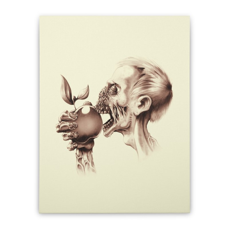 Vegetarian Zombie Home Stretched Canvas by ramos's Artist Shop