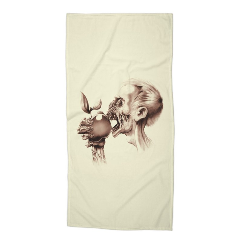 Vegetarian Zombie Accessories Beach Towel by ramos's Artist Shop